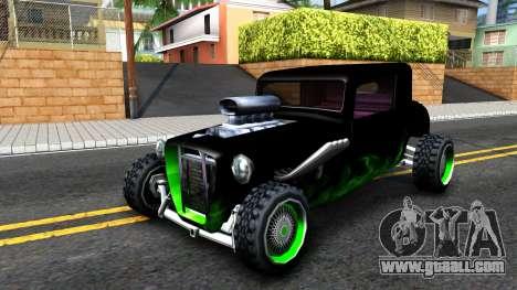 Green Flame Hotknife Race Car for GTA San Andreas