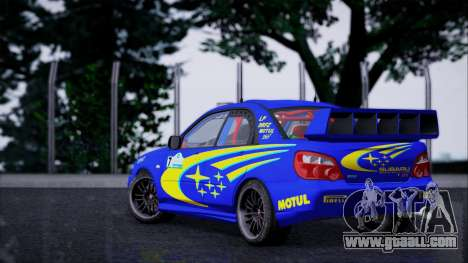 Subaru Impreza WRX STI WRC Rally 2005 for GTA San Andreas left view