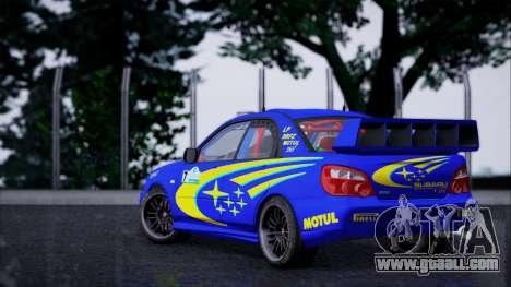 Subaru Impreza WRX STI WRC Rally 2005 for GTA San Andreas left view