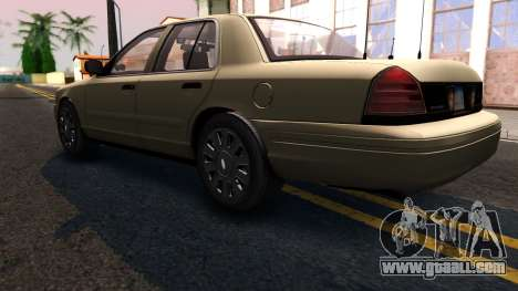 Ford Crown Victoria Unmarked 2009 for GTA San Andreas back left view