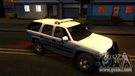 2004 Chevy Tahoe State Wildlife for GTA San Andreas back view
