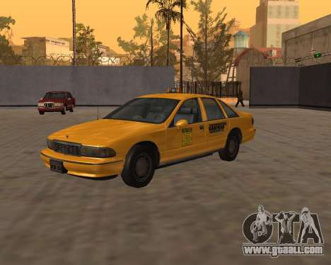 Chevrolet Caprice Taxi Kaufman for GTA San Andreas