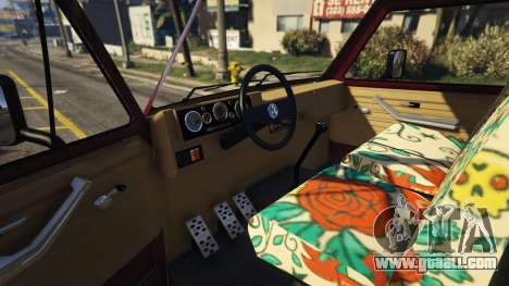 GTA 5 Volkswagen Transporter T3 (1979) right side view