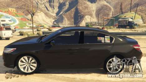 GTA 5 Honda Accord 2017 left side view