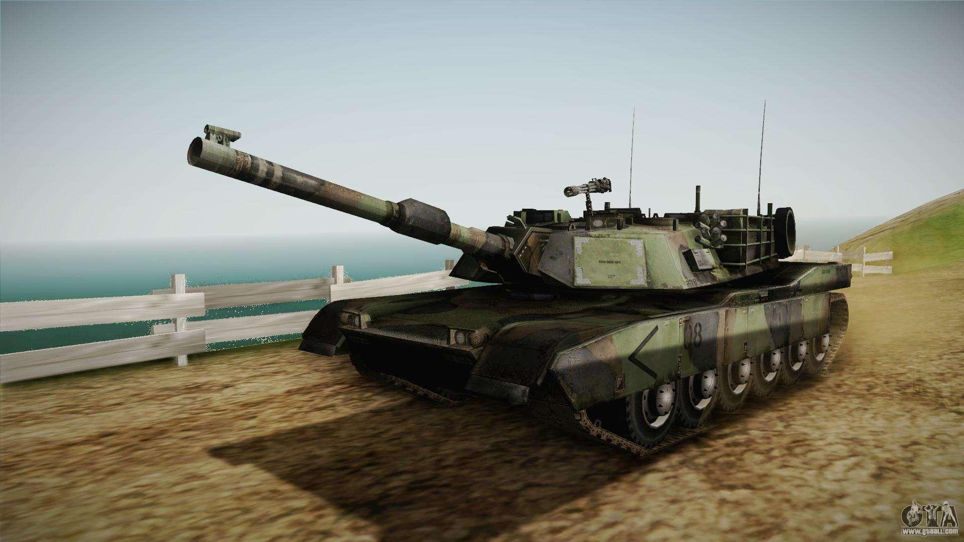 Abrams Tank Woolant Camo For Gta San Andreas