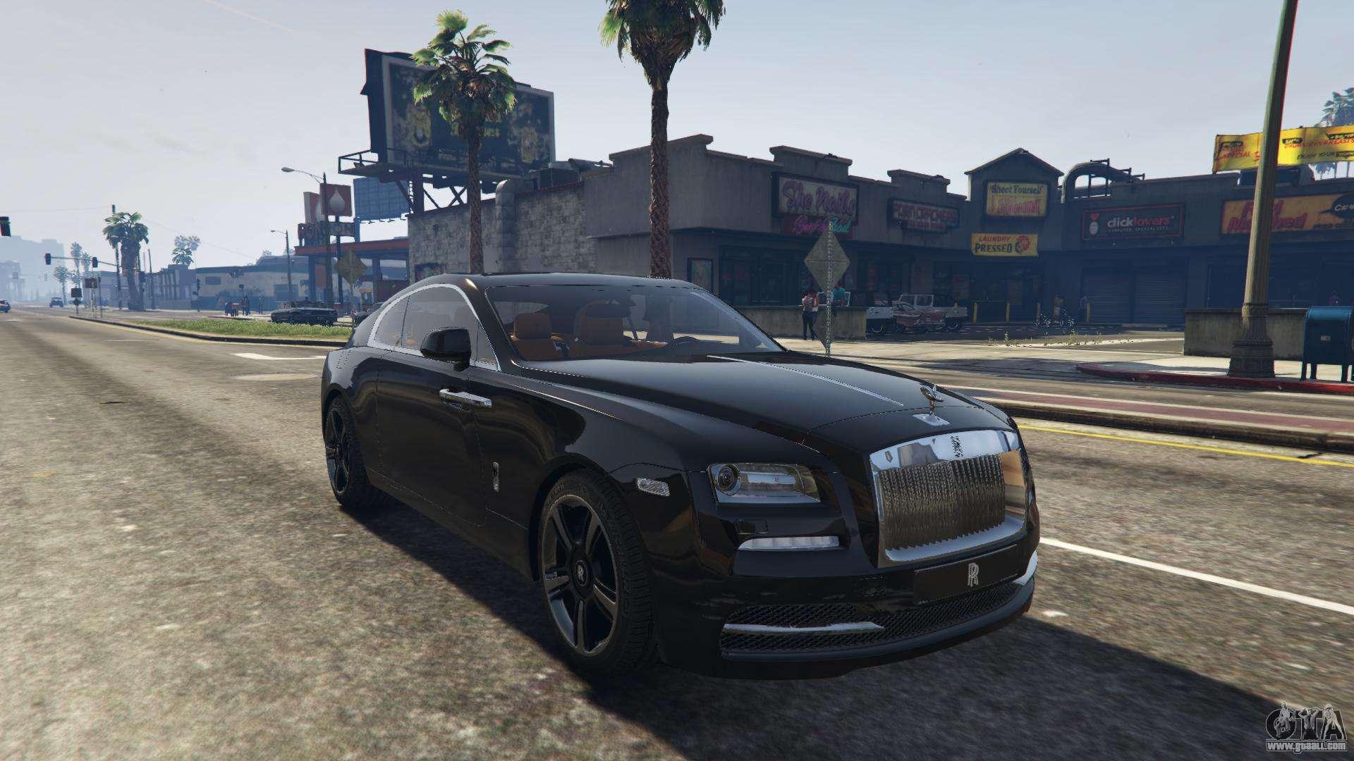 rolls royce wraith car 2015. gta 5 rollsroyce wraith 2015 back view rolls royce car