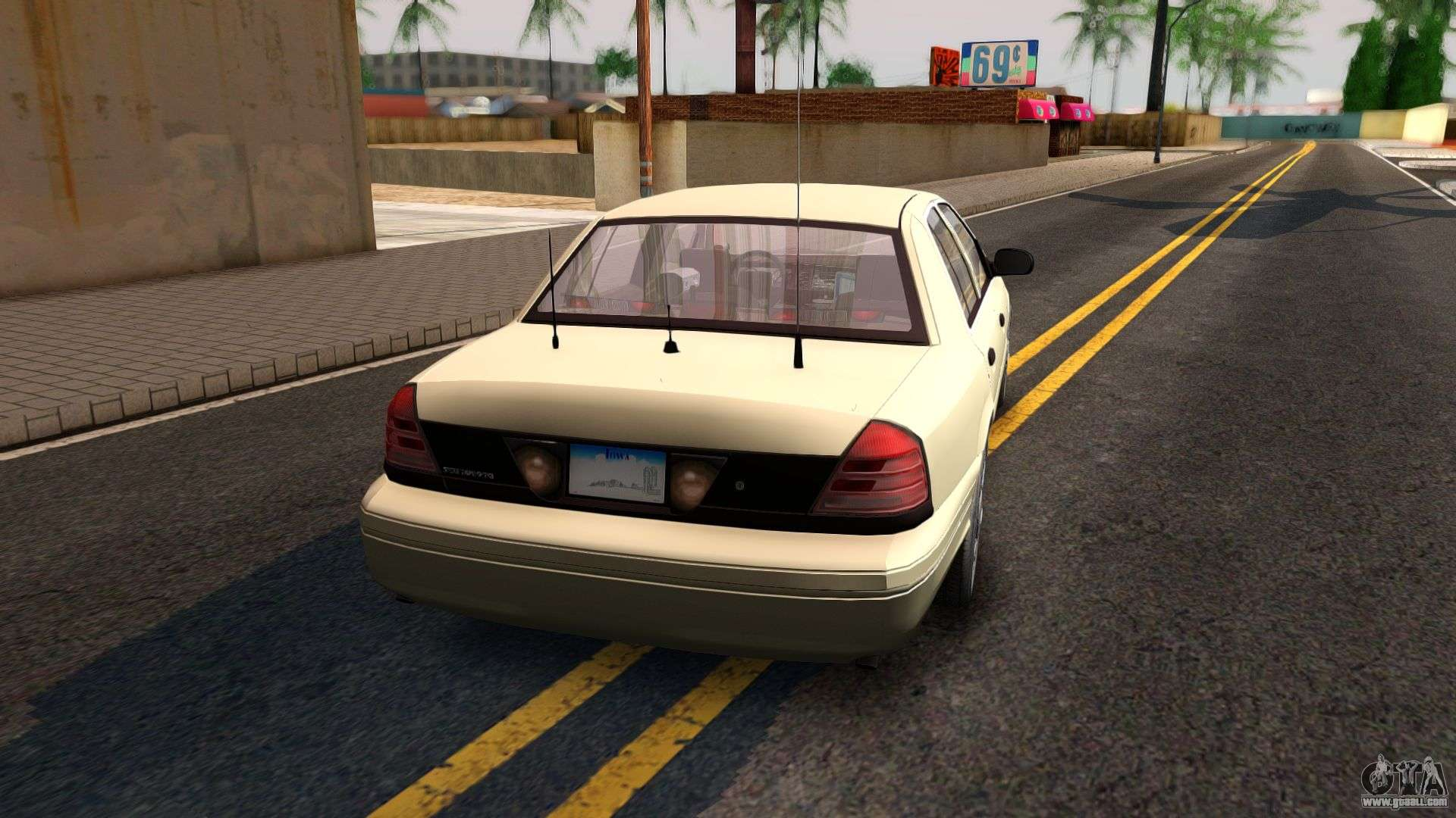 Ford Crown Victoria Unmarked  For Gta San Andreas Left View