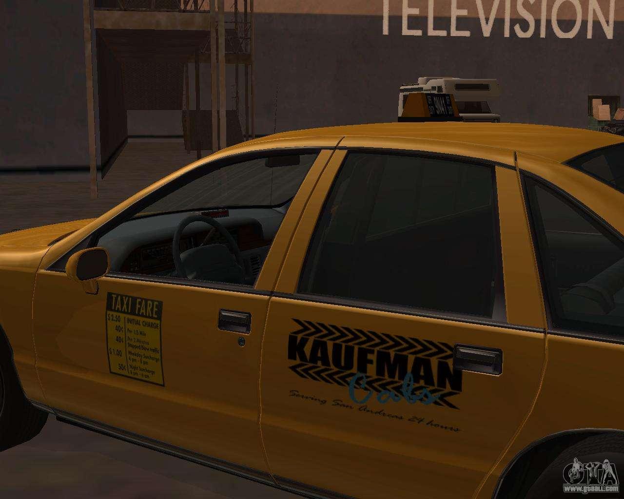Chevrolet Caprice Taxi Kaufman for GTA San Andreas