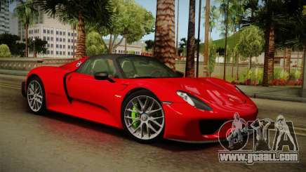 Porsche 918 Spyder 2013 Weissach Package SA for GTA San Andreas
