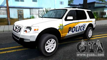 Ford Explorer Metro Police 2009 for GTA San Andreas