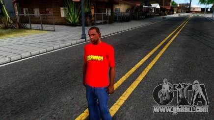 Hulk Hogan T-Shirt for GTA San Andreas