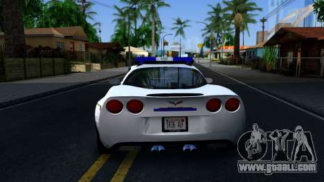 Chevy Corvette Z06 Hometown PD 2006 for GTA San Andreas back left view