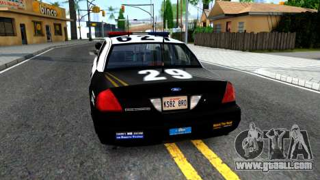 Ford Crown Victoria Police for GTA San Andreas back left view