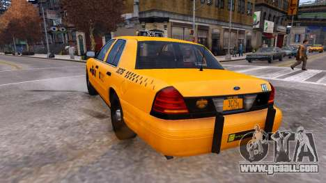Taxi Nyc for GTA 4 back left view
