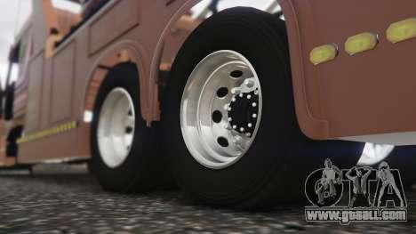 GTA 5 Scania 113H Guincho 4x6 Funcional rear right side view
