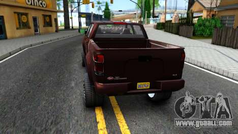 GTA V Vapid Contender for GTA San Andreas back left view