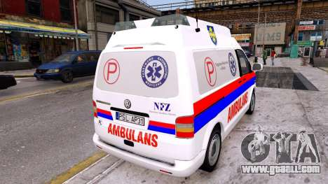 Volkswagen T5 Polish Ambulance for GTA 4 back left view