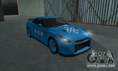 Nissan GTR Egoist 2011 (the Flag of the Kazakh k for GTA San Andreas upper view