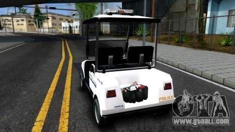 Caddy Metropolitan Police 1992 for GTA San Andreas back left view