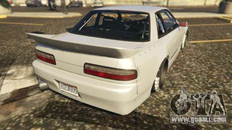GTA 5 Nissan Silvia S13 Kyoto Rocket Bunny 666 rear left side view
