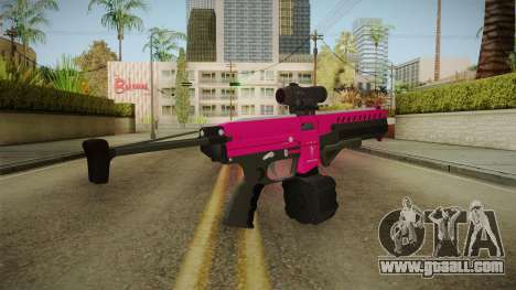 GTA 5 Combat PDW Pink for GTA San Andreas second screenshot