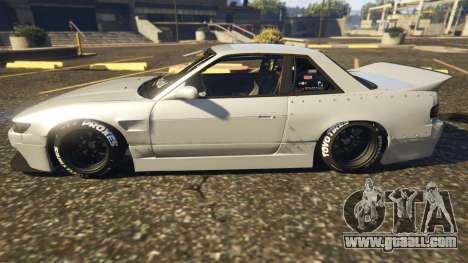 GTA 5 Nissan Silvia S13 Kyoto Rocket Bunny 666 left side view