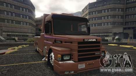 GTA 5 Scania 113H Guincho 4x6 Funcional back view