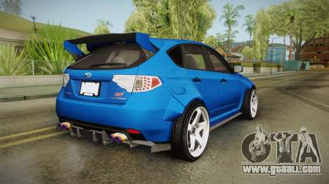 Subaru Impreza WRX STI Rocket Bunny for GTA San Andreas back left view