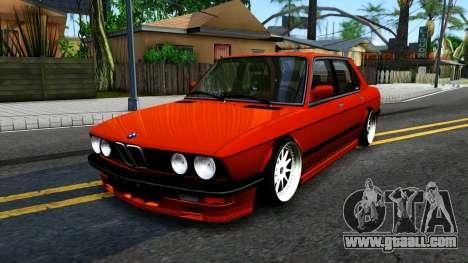 BMW E28 M5 for GTA San Andreas