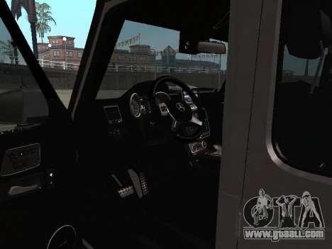 Mercedes-Benz G500 Armenian for GTA San Andreas inner view