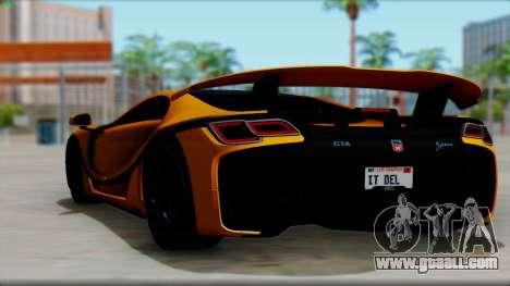 Spania GTA Spano 2016 for GTA San Andreas left view