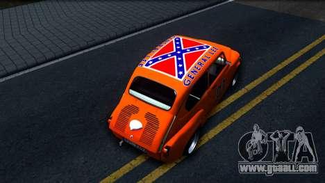 Zastava 850 Abarth General Lee for GTA San Andreas back view