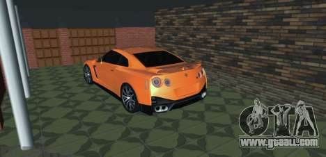 Nissan GT-R 35 Restyling for GTA San Andreas left view