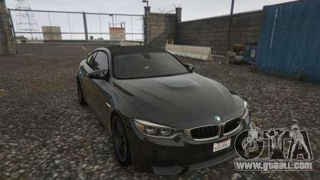 GTA 5 BMW M4 F82 2015 back view