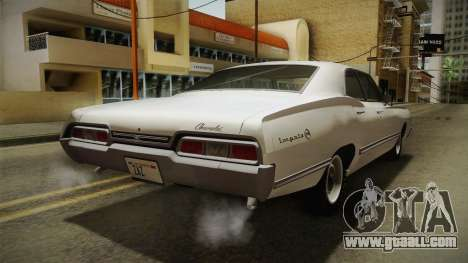 Chevrolet Impala Sport Sedan 396 Turbo-Jet 1967 for GTA San Andreas back left view