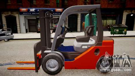 Toyota Forklift (v2.0) for GTA 4 left view