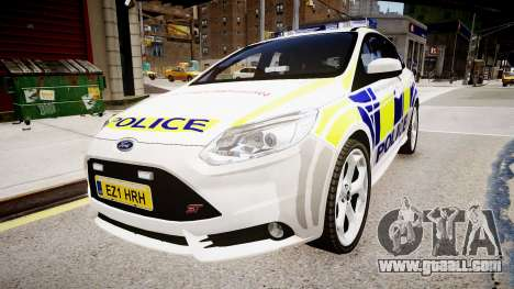 Ford Focus 2013 Swedish Police for GTA 4 back left view