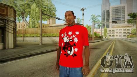 T-shirt with a Deer for GTA San Andreas