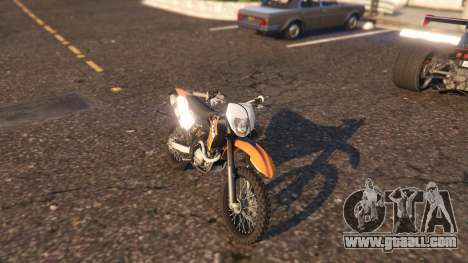 GTA 5 KTM EXC 530 2010 rear left side view
