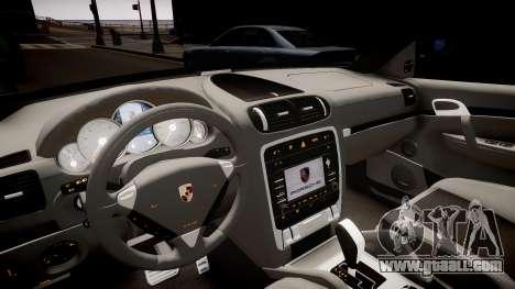 Porsche Cayenne Turbo S 2009 for GTA 4 inner view