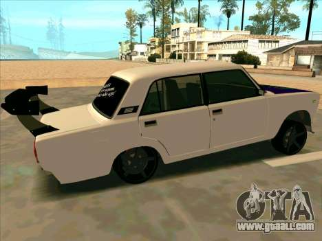 VAZ-2107 Azelow for GTA San Andreas back left view