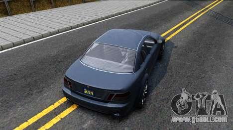GTA V Ubermacth Sentinel Sedan for GTA San Andreas back view