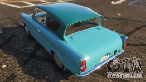 GTA 5 Ford Anglia 1959 from Harry Potter rear left side view