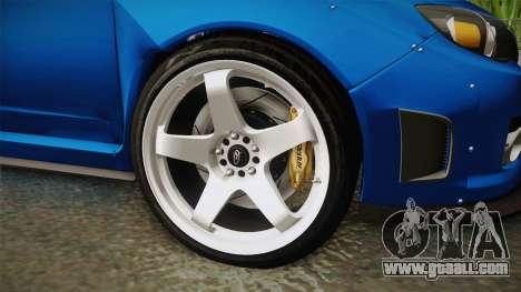 Subaru Impreza WRX STI Rocket Bunny for GTA San Andreas back view