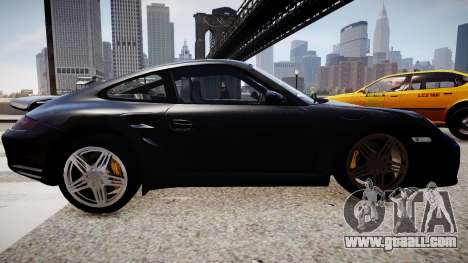 Porsche 911 turbo 2008 for GTA 4 left view