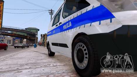 Ford Transit Polish Police 2015 for GTA 4