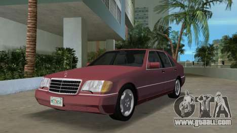Mercedes-Benz 400SE W140 1991 for GTA Vice City