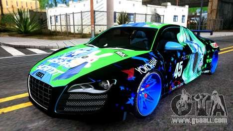 Audi R8 V.1.0 Itasha Yoshino Hermit DAL LWP for GTA San Andreas