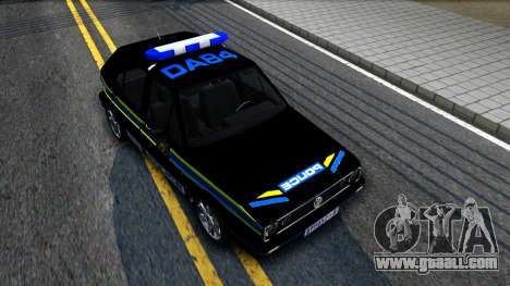 Volkswagen Golf Black South African Police for GTA San Andreas right view