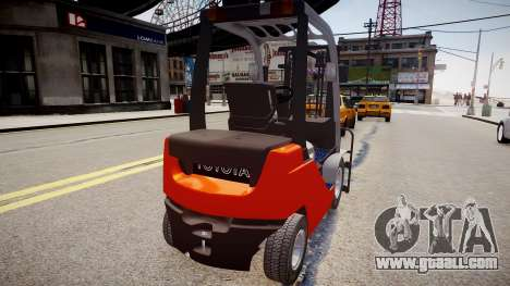 Toyota Forklift (v2.0) for GTA 4 back left view